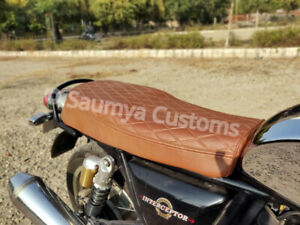 Royal Enfield Diamond Scrambler Brown 130 For Interceptor Driver & Pillion Seat