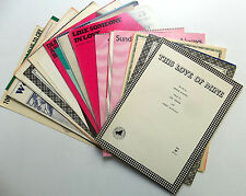 VARIOUS ARTISTS Lot Of  (50) 1940s DECADE Sheet Music TRADITIONAL POP Vocals