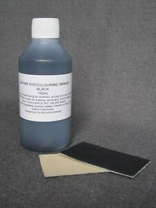 Leather dye colourant in BLACK - 100ml for sofas shoes bags car seats jacket NEW