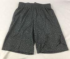 Nike Air Jordan Men'S Athletic Basketball Loose Short Gray Print 831372 Size M