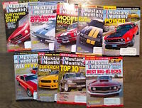 (Lot of 9) 2006 Mustang Monthly Magazine Shelby Cobra Boss FREE SHIPPING