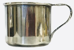 """FINE ARTS SOUTHERN COLONIAL Sterling Baby Cup 2x2.5"""" 54g Gold Wash No Monogram"""