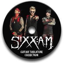 Sixx A.M Rock Guitare tab tablature Song Book LOGICIEL CD