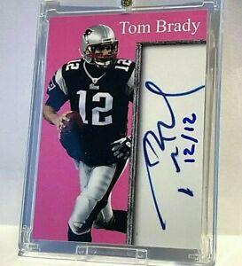12/12 Tom Brady Facsimile Cut Autograph Jersey # 12 Incredible Ink GOAT MVP 1/1