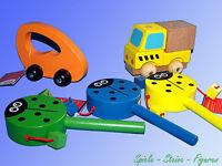 Holz Spielzeug, Holz Baustein Auto, Holz Klapper, Drehtrommel, Greifauto