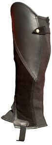 Black Suede with Black Leather Classic Comfort Gaiters