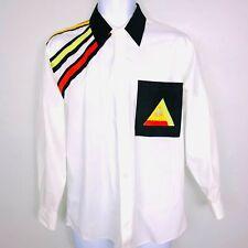Vintage Marquis Mens Dress Shirt M 15 1/2 33 - 34 White Third Eye 80's Club IZ69