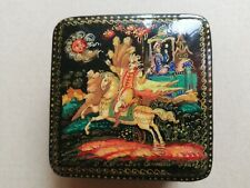 "Vintage Antique Russian Box""Tale of a dead queen and seven heroes"""