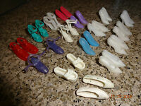 Vintage Barbie Doll Size - Lot of 16 Pair - Heels Shoes Korea/China/Taiwan Misc