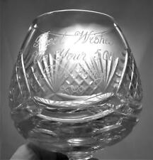 Tutbury Crystal Brandy Glass Inscribed Best Wishes On Your 50th Birthday