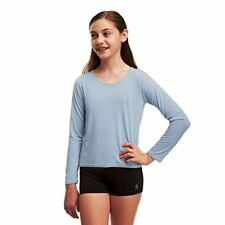 $22 Soffe Girl Dance Top Feather Heather Blue 1757G Large (12-14) (1)