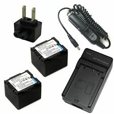 Charger +2x Battery Pack for Panasonic PV-GS400 PV-GS500 SDR-H18 SDR-H20 SDR-H21