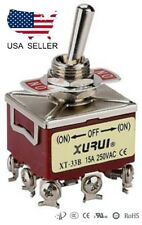 HEAVY DUTY 3PDT (ON)-OFF-(ON) MOMENTARY TOGGLE SWITCH - SCREW TERMINALS (33BF)