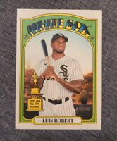 2021 Topps Heritage LUIS ROBERT Team Name Color Swap Variation SP White Sox #33