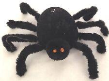 """Black 10"""" Fuzzy Spider BUG Halloween Decoration Figurine with Sound Effects"""