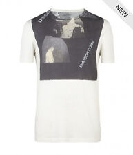 "*NEW - ""ALLSAINTS"" MEN'S WHITE ""DISSIM BAND"" T-SHIRT SIZE ""2XL"" W TAGS ATTACHED!"