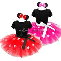 Cartoon Mouse Princess Dress Kids Girls Fancy Dress Up Tutu Skirt Outfit Costume