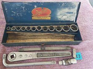 """Vintage """"DUFOR"""" No 3  16 Piece SOCKET & WRENCH SET"""