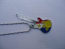 Philippines Flag Guitar Necklace Happy Filipino Day