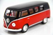 "New 5"" Kinsmart 1962 VW Volkswagen Classical Bus Diecast Model Toy 1:32- Red"