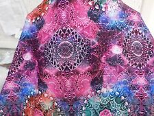 2yd  print fabric good weight 4 way spandex lycra MADE IN THE USA J4258