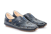 Pikolinos Damen Schuhe Slipper Halbschuh Mokassins 578-7399 blue blau Leder