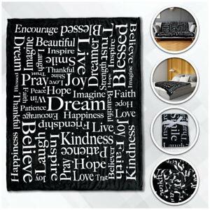 Inspiring Message Plush Blanket 50x60 Positivity Blanket survivor Throw Blanket