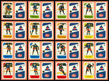 1982-83 Post Cereal Colorado Rockies Chico Resch NHL Hockey Mini Card Set of 16