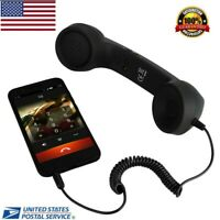 Retro Handset Phone Android 3.5mm Receiver Telephone Radiation Proof US