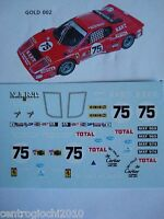 DECALS KIT 1/43 FERRARI 365 GT4 BB LE MANS 1977