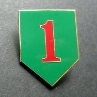 US ARMY 1st INFANTRY DIVISION LAPEL HAT PIN BADGE 1.5 X 1 inches