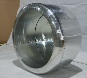Timothy Oulton Style Aviator Aviation Cowling Mirror Aluminum Industrial Style