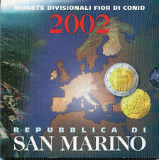SAN MARINO CARTERA EURO COIN SET 2002