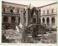 Sommer. Italie, Chiostro dei Benedettini Vintage albumen print  Tirage albumin