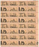 US Scott # 1440-43 HISTORIC PRESERVATION Full Pane 32 X 8 Cents Stamps Sheet MNH