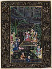 Indo Persian Miniature Rare Art Handmade Islamic Middle Eastern Folk Painting