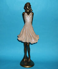 Resin Female Figurine - Tall (37cm) Enchanting Slender Woman in A Summer Dress.