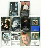 Vintage Cassette Tapes Lot Of 10 - 80s + Rock /Country/Mixed Cassette Tapes C03