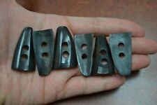 "6 PCS BUFFALO HORN TOGGLE SEWING 2 HOLE BUTTONS CRAFT 1 1//2/"" #T-2296"
