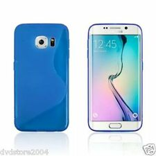 Custodia cover case WAVE BLU Morbida  per Samsung Galaxy S6 edge SM-G925