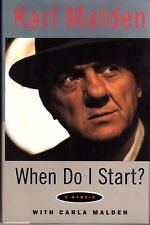 """KARL MALDEN Signed Autographed Book """"WHEN DO I START"""" Patton PSA/DNA #AE93775"""