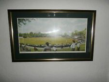 C.R COOPER QUEEN'S PARK CHESTERFIELD CRICKET LIMITED EDITION SIGNED PRINT 40/250
