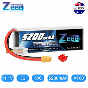 Zeee 3S 5200mAh 50C 11.1V XT60 LiPo RC Battery for RC Car Helicopter Airplane