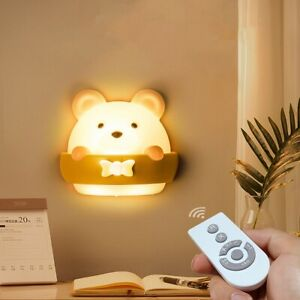LED Night Light Timing Table Lamp  USB Rechargeable Wall Lamp Remote Control