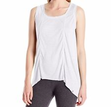 Marc New York Performance Women's Seamed High Low Tank Top White Size Small