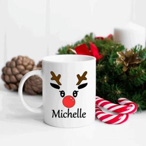 Christmas Reindeer Vinyl Decal Sticker Christmas Eve Mug Novelty