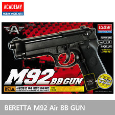 ACADEMY M92 Airsoft Pistol BB Gun 6mm /Spring,Hop Up System, ABS