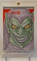 GREEN GOBLIN SPIDER-MAN FOE MARVEL SKETCHAFEX ARTIST SKETCH AUTOGRAPH CARD 1/1