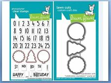 Lawn Fawn Photopolymer Clear Stamp & Die Combo CELEBRATION COUNTDOWN ~1476,1477
