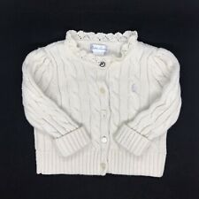Vintage Ralph Lauren 6 Months Baby Long Sleeve Knitted Button-Up Shirt White